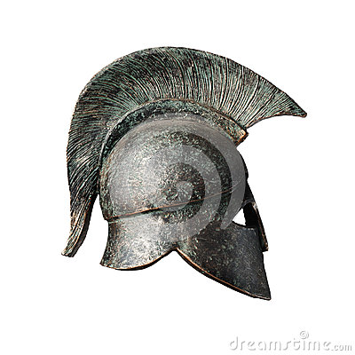 Free Praetorian Gladiator Helmet Statue Stock Photo - 61336260
