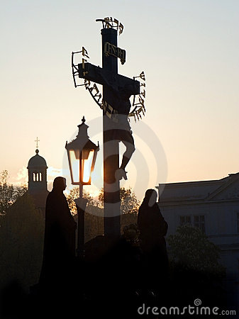 Praga - corss dal ponticello del Charles