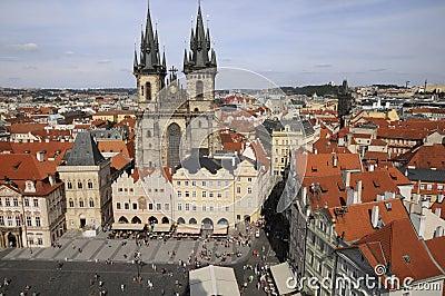 Prague,aerial view
