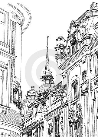 Prague - architectural drawing