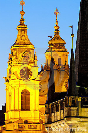 Free Prague - Architectural Style Royalty Free Stock Images - 24087079