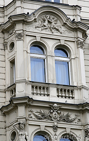 Prague architecture. Window