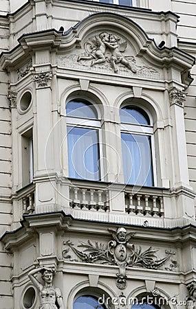 Prague architecture. Window