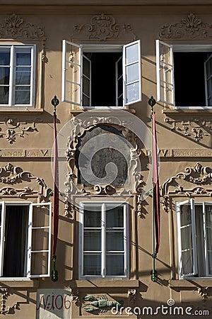 Prague - baroque facade