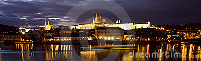 Prague Castle across river