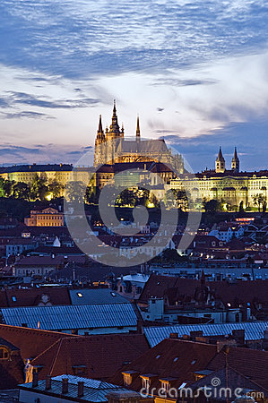 Prague Castle in the evening