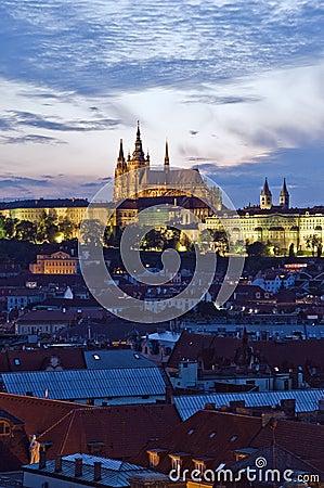 Prague Castle in the evening