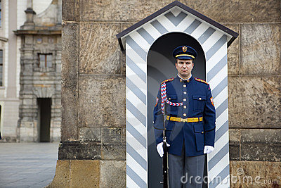 Prague castle guard Editorial Photo