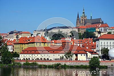 Prague Castle, old town, river scenic (Hradcany)