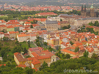 Prague castle from Petrin
