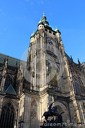Prague castle Saint Vitus Cathedral