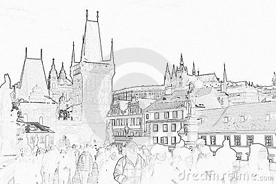 Prague Castle Sketch