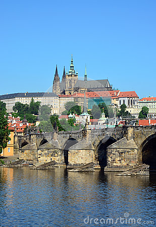 Prague castle, St. Vitus Cathedral, Charles Bridge