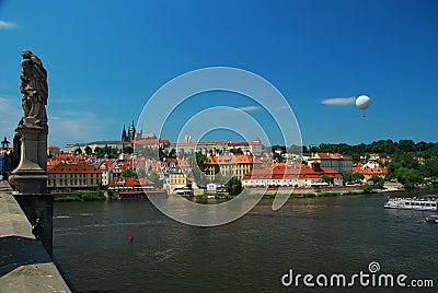 Prague castle, view across the Vtlava river
