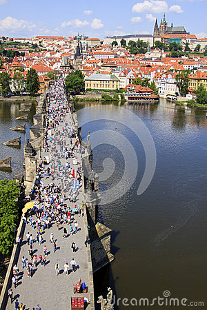 Prague, Charles bridge Editorial Stock Image