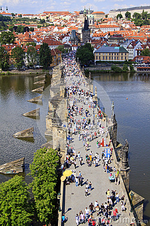 Prague, Charles bridge Editorial Image