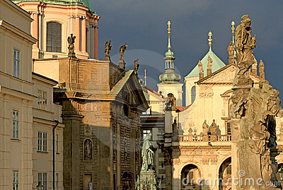 Prague churches and spires