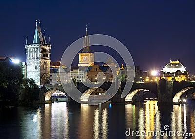 Prague city, Czech Republic at night time