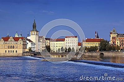 Prague city in summer