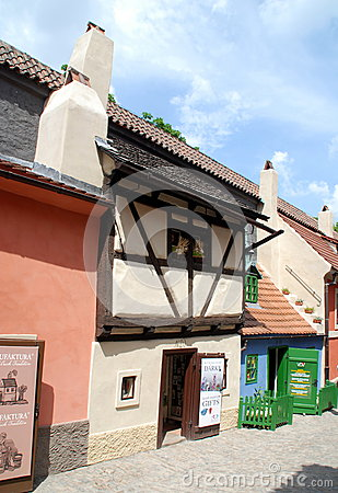 Prague, Czech Rep: Golden Lane Cottages Editorial Image