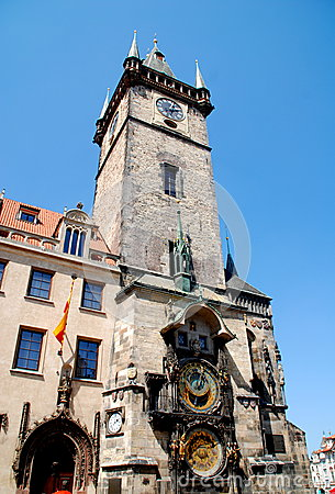 Free Prague, Czech Rep: Old Town Hall Tower Royalty Free Stock Images - 25522349