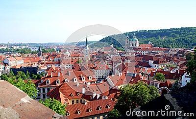 Prague, Czech Rep: View of Mala Strana District