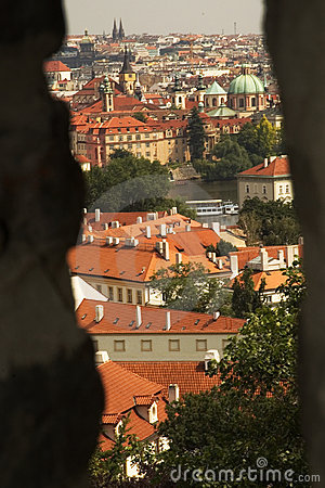 Prague, czech republic from castle wall
