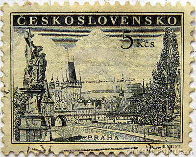 Prague Czecholovakian stamp