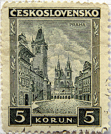 Prague Czech stamps