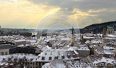 Prague dramatyczny zmierzch