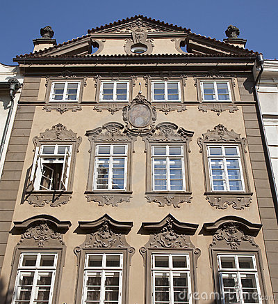 Prague - facade of baroque house