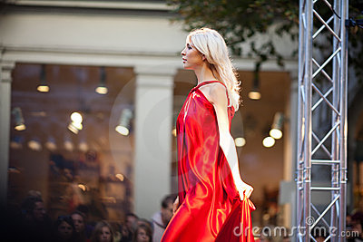 Prague Fashion Weekend on September 24, 2011 in Pr Editorial Photography