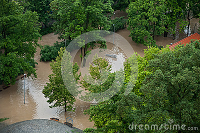 Prague flood June 2013 Editorial Photo