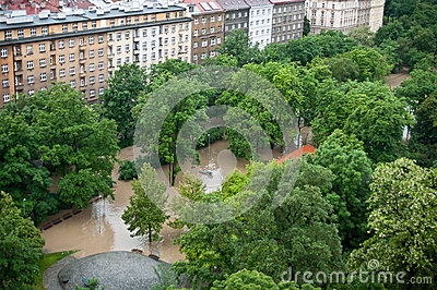 Prague flood June 2013 Editorial Photography
