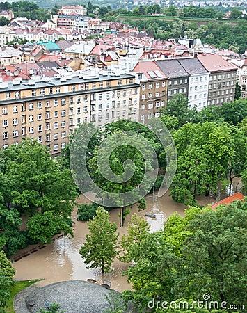 Prague flood June 2013 Editorial Stock Image