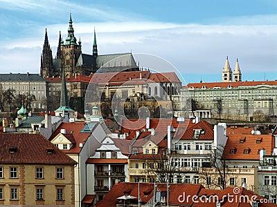 Prague gothic Castle on the River Vltava