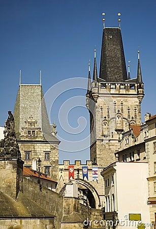 Prague gothic towers