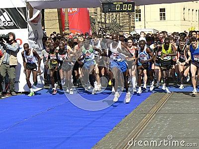 Prague Halfmarathon Editorial Photo