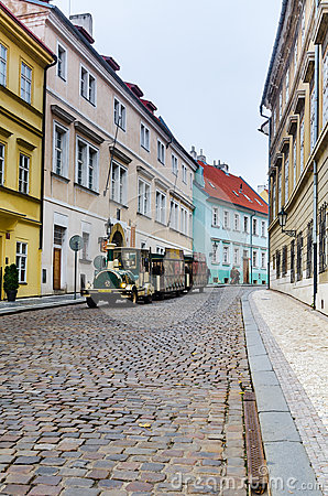 Prague, medieval street, Czech Republic Editorial Photography