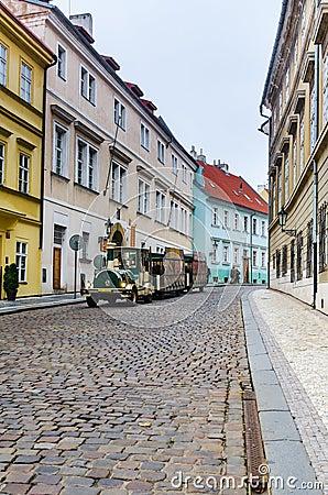 Prague, medieval street, Czech Republic Editorial Photography