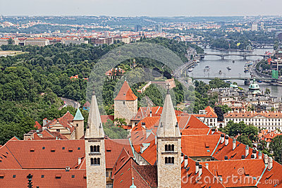 Prague from an observation deck