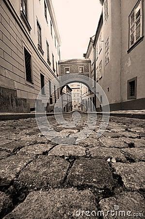 Prague. Old, charming street