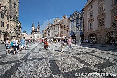 Prague old city center Editorial Photo