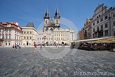Prague old citycenter Editorial Photography