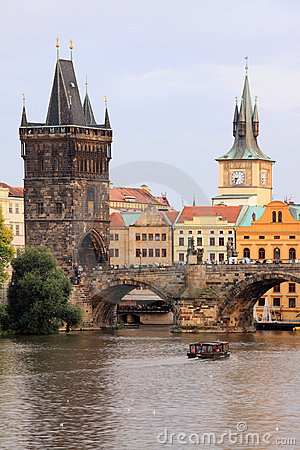 Prague Old Town with the Bridge Tower