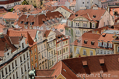Prague Old Town roofs