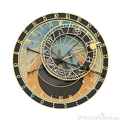 Free Prague Orloj Astronomical Clock Cutout Royalty Free Stock Photos - 9671548