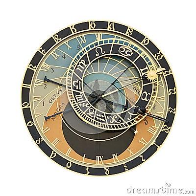 Free Prague Orloj Astronomical Clock Cutout Royalty Free Stock Photos - 9671548