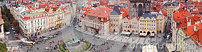 Prague panorama from Rathaus Editorial Photography