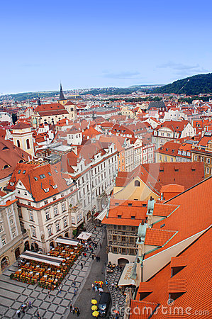 Prague panorama from Rathaus Editorial Image